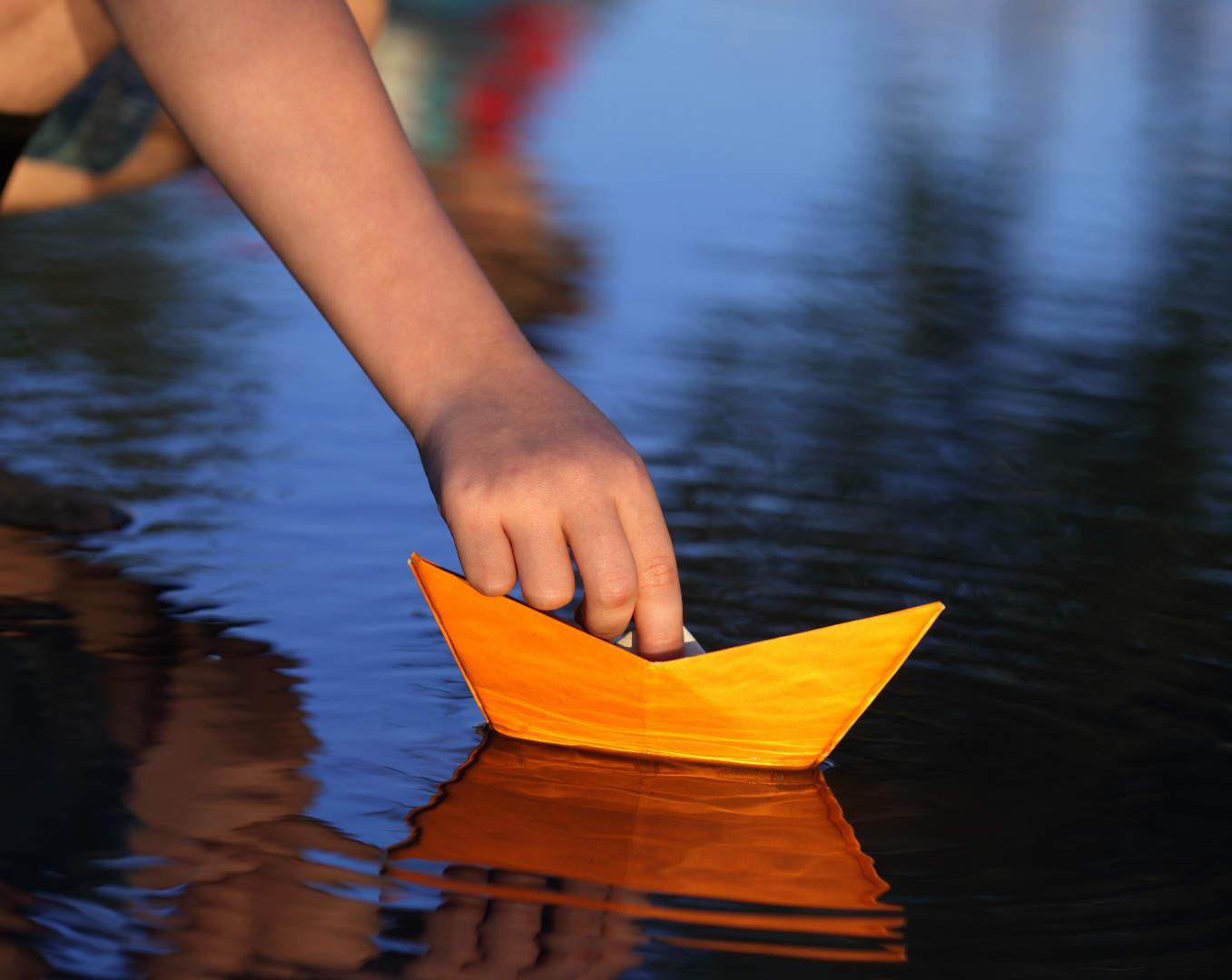 Paper boat launch